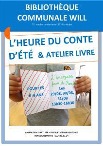 Affiche heure du conte d'été + atelier