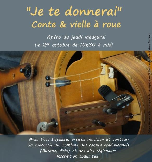 Affiche et fly - conte et vielle à roue 2019-cadre - Copie